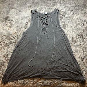 Gray tank top